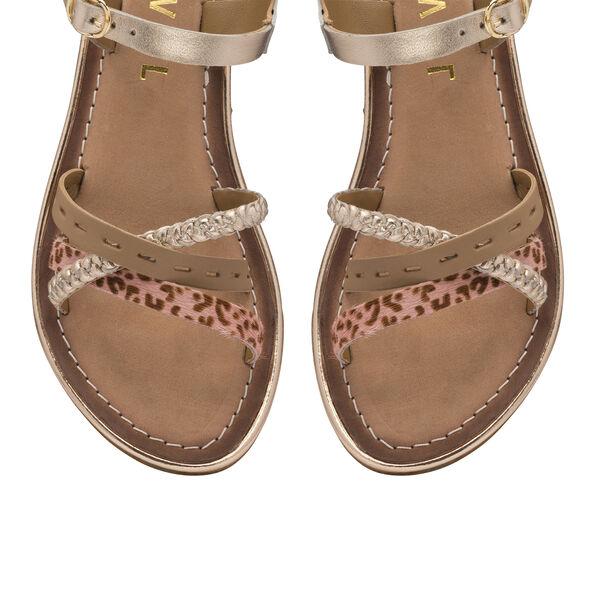 Ravel Cudal Leather Flat Sandals (Size 5) - Birch