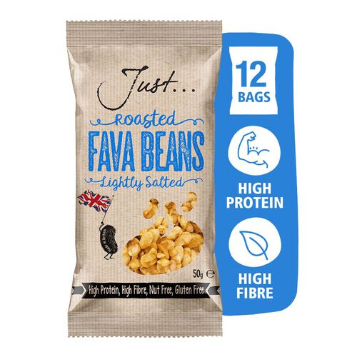 Just Roasted Fava Beans Sea Salt 12x50g