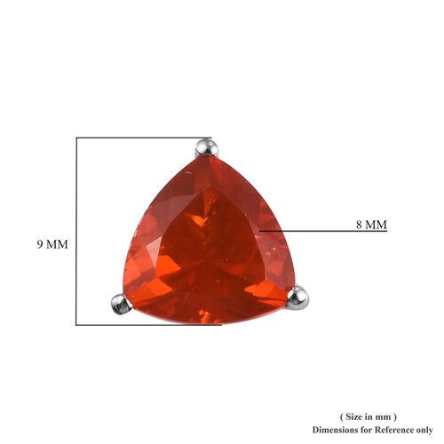 RHAPSODY 950 Platinum AAAA Jalisco Fire Opal Stud Earrings (with Screw Back) 2.50 Ct.