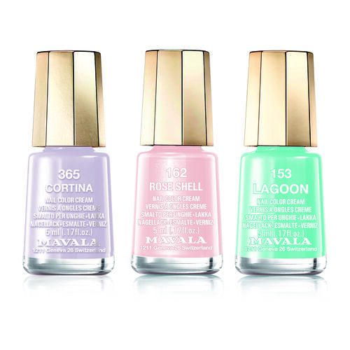 MAVALA- Trio Nail Polish Lagoon- Rose Shell 162, Lagoon153 and Cortina 365