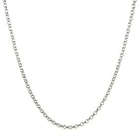 Rolo Chain in Sterling Silver 24 Inch