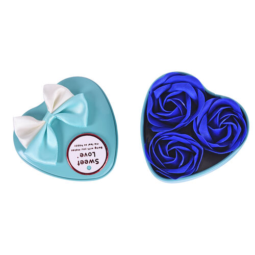 Bouquet of flowers -  Imitation Soap Rose in a Box - Blue