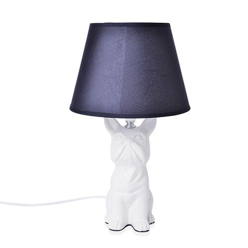 Home Decor - Grey Colour Shar Pei Design Table Lamp (Size 38x20.5 Cm)