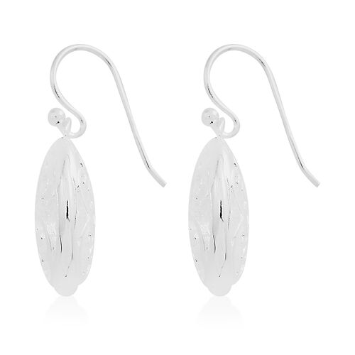 Vicenza Collection- Designer Inspired Sterling Silver Hook Earrings, Silver wt 5.81 Gms.