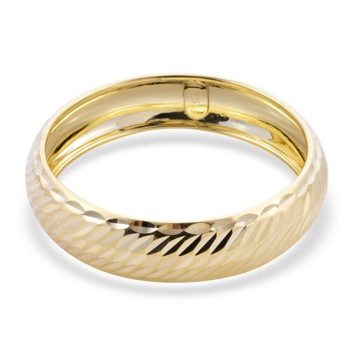 Royal Bali Collection - 9K Yellow Gold Diamond Cut Band Ring