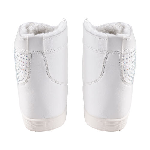 White Ankle Trainers with Faux Fur Lining (Size 3)