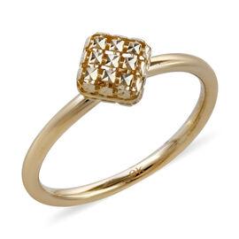 Royal Bali Collection- 9K Yellow Gold Designer Inspired Diamond Cut Ring