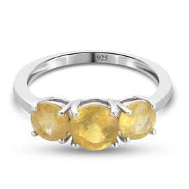 TJC Launch- Rayong Yellow Sapphire Ring in Platinum Overlay Sterling Silver 2.50 ct.