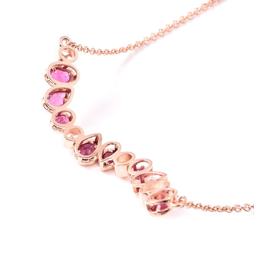 RACHEL GALLEY Misto Collection - African Ruby Bracelet (Size 8) in Rose Gold Overlay Sterling Silver 3.57 Ct.