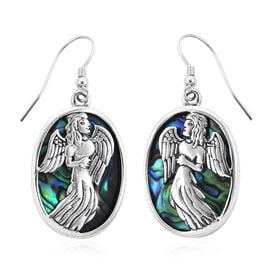 Royal Bali Collection Abalone Shell Angel Hook Earrings in Sterling Silver 6 Grams