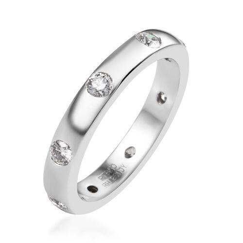 RHAPSODY 950 Platinum IGI Certified Diamond (Rnd) (VS/E-F) Band Ring 0.500 Ct., Platinum wt 6.41 Gms.