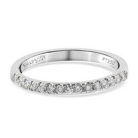 RHAPSODY 950 Platinum IGI Certified Diamond (VS/E-F) Half Eternity Ring 0.25 Ct.
