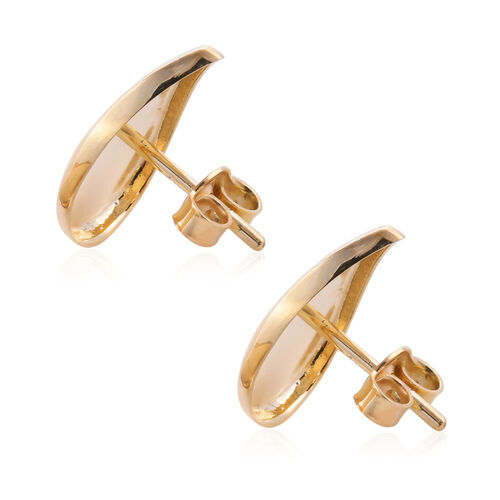 Royal Bali Collection - 9K Yellow Gold Diamond Cut Stud Earrings (with Push Back)