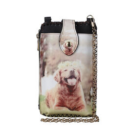 lifestyle Color Beige Dog pattern size/Profile cell phone bag wall (exterior) Semi-PU Lining (interior)