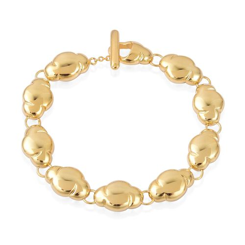 LucyQ Cloud Bracelet (Size 7.5) in Yellow Gold Overlay Sterling Silver 21.84 Gms.