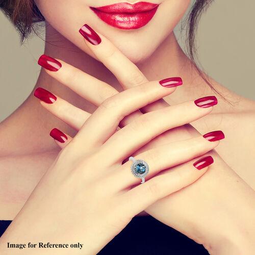 RHAPSODY 950 Platinum Santa Maria Aquamarine and Diamond Ring 2.25 Ct, Platinum Wt. 6.37 Gms