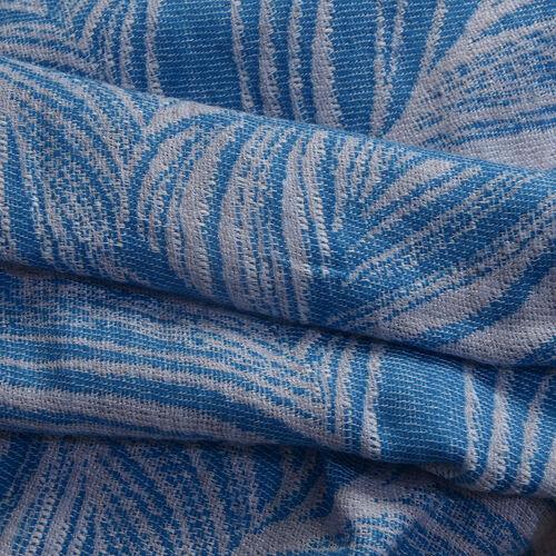 Blue Colour Scarf (Size 190x70 Cm)