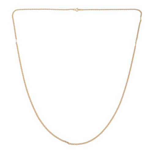 JCK Vegas Collection 14K Gold Overlay Sterling Silver Diamond Cut Valentino Chain (Size 30), Silver wt. 4.20 Gms.