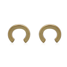 9K Yellow Gold Stud Earrings (With Push Back) , Gold Wt. 0.35 Gms