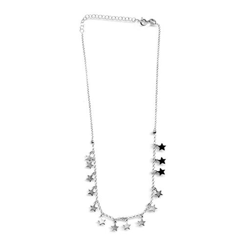 JCK Vegas Collection Designer Inspired One time offer Sterling Silver Necklace  (Size 14 with 2 inch Extender) with Star Charm