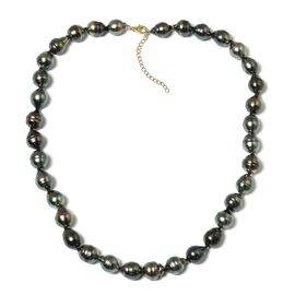 14K Yellow Gold Tahitian Pearl Necklace (Size 18 with 2 inch Extender)