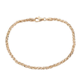 Royal Bali Collection 9K Yellow Gold Spiga Bracelet (Size 7.25)
