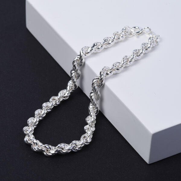 Sterling Silver Rope Chain Bracelet (Size 7)