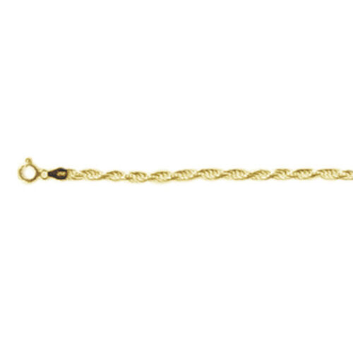 Vicenza Collection - Yellow Gold Overlay Sterling Silver Rope Bracelet (Size 7.5), Silver wt. 4.01 Gms.