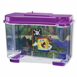 3D Spongebob Fish Tank with LED Night Light (4 AAA Batteries not Included)