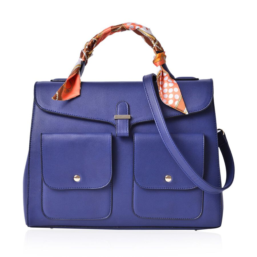 6165a608d8 Navy Colour Large Tote Bag with External Pocket and Adjustable and  Removable Shoulder Strap with Multi ...