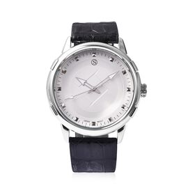STRADA Japanese Movement Water Resistance Watch in Stainless Steel - Black