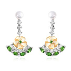 Jardin Collection - Yellow Mother of Pearl, Freshwater Pearl, Russian Diopside and Natural White Cam