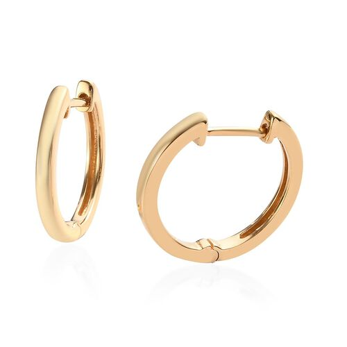 Sundays Child- 14K Gold Overlay Sterling Silver Hoop Earrings with Clasp