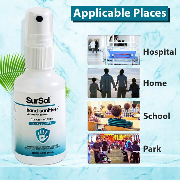 SurSol Clean+Protect Alcohol Free Instant Hand Sanitiser 50ml