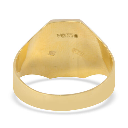 9K Yellow Gold Signet Ring, Gold wt 2.78 Gms