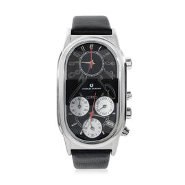 Close Out - CHARLES JOURDAN Paris Unisex Watch with Genuine Leather Strap