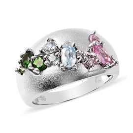 RACHEL GALLEY Sandblast Collection  - Madagascar Pink Sapphire, Russian Diopside and Cambodian Blue