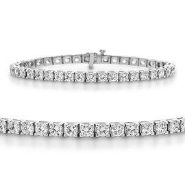 14K White Gold EGL CERTIFIED Diamond (Rnd) (I2-I3 F-H) Bracelet (Size 8.25) 11.500 Ct, Gold wt 20.00 Gms.