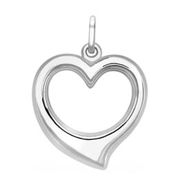9K White Gold Heart Pendant