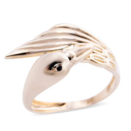 Royal Bali Collection - 9K Yellow Gold Enamelled Swan Ring, Gold wt. 3.20 Gms