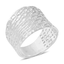 Designer Inspired-Sterling Silver Weave Net Ring.Silver Wt 5.50 Gms