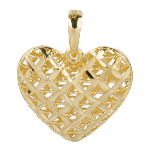 Ottoman Treasure High Finish Heart Pendant in 9K Yellow Gold