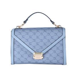 LOCK SOUL Crossbody Bag with Metallic Lock (Size 26x19x11Cm) - Blue