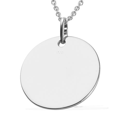 Platinum and Yellow Gold Overlay Sterling Silver I Love you to the Moon and Back Pendant with Chain