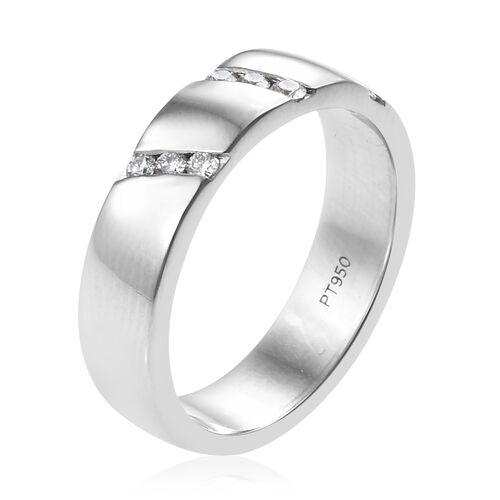 RHAPSODY 950 Platinum IGI Certifed Diamond (Rnd) (VS/E-F) Ring 0.160 Ct.