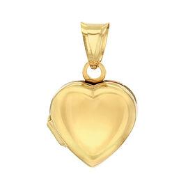 9K Yellow Gold Heart Locket Pendant, Gold wt 1.15 Gms
