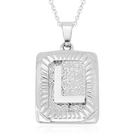 Initial L Pendant with Chain (Size 22) in Stainless Steel