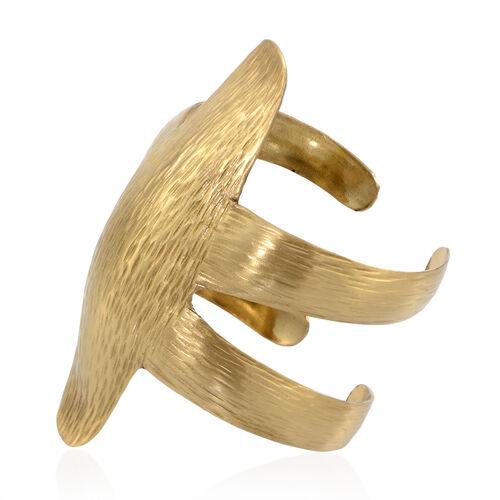 Gold Plated Brass Cuff Bangle