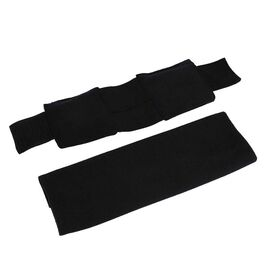 Shungite Filled Ankle Pad with Washable Cover (Size 10x22 Cm) - Black