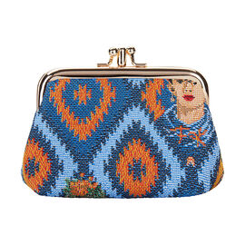 Signare Tapestry - Frida Kahlo Icon Frame Purse (Size 12x8x4.5 Cm)